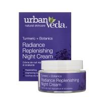 Spindesį suteikiantis atnaujinantis naktinis veido kremas sausai odai, Urban Veda, 50 ml