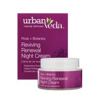 Atkuriantis atnaujinantis naktinis veido kremas brandžiai odai, Urban Veda, 50 ml