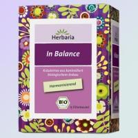 Subalansuojanti žolelių arbata In Balance, Herbaria, ekologiška, 15 pakelių