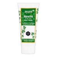 """Valanti ir skaistinanti veido kaukė su nimbamedžiu """"Neem&Tea Tree"""", Ayumi, 200 ml"""