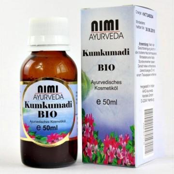 Ajurvedinis aliejus veidui Kumkumadi, Nimi Ayurveda, ekologiškas, 50 ml