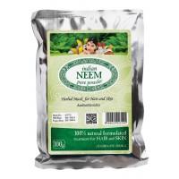 Natūralūs nimbamedžio milteliai plaukų priežiūrai INDIAN NEEM, 100g