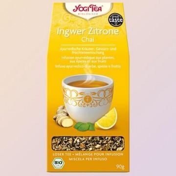 Ajurvedinė arbata su imbieru ir citrina, ekologiška, biri, Yogi Tea, 90g