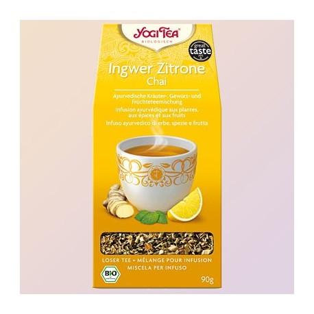 Prieskoninė ajurvedinė arbata su imbieru ir citrina, ekologiška, biri, Yogi Tea, 90g