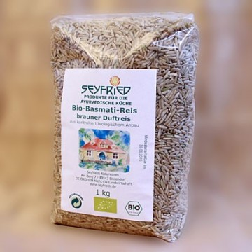 Rudieji basmati ryžiai BROWN, ekologiški, Seyfried, 1kg