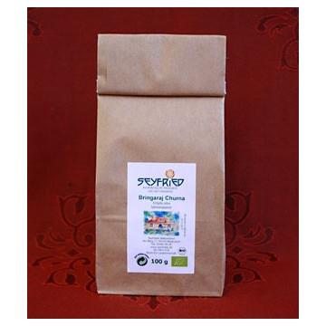 Bhringaraj (gulsčiosios grąžulės) žolelių milteliai, ekologiški, Seyfried 100g