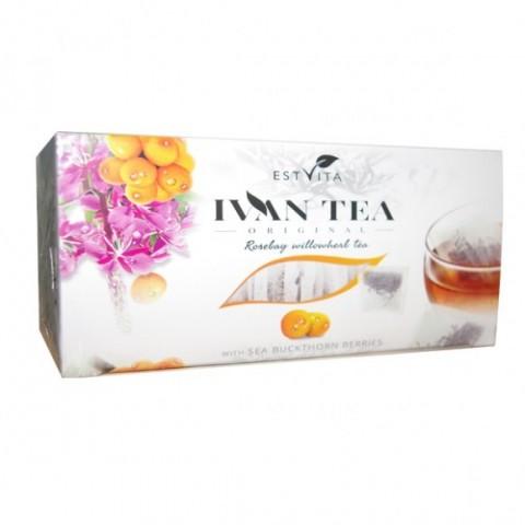 Siauralapio gauromečio (Ivan-čai) arbata su šaltalankiais, Estvita, 20 pakelių