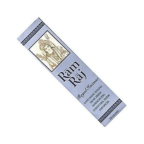 Natūralios rankų darbo santalo kvapo smilkalų lazdelės Ram Raj, 20g