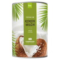 Kokosų pienas, ekologiškas, Cosmoveda, 400 ml