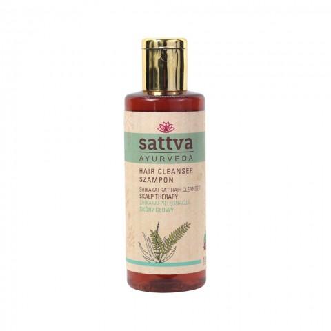 Gyvybingumą suteikiantis plaukų šampūnas SHIKAKAI, Sattva Ayurveda, 210ml