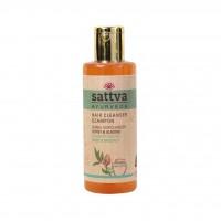 Maitinantis plaukų šampūnas su medumi ir migdolais, Sattva Ayurveda, 210ml