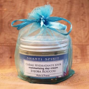 Drėkinantis veido kremas su simondsijomis ir urlijomis , Shanti Spirit, 50 ml