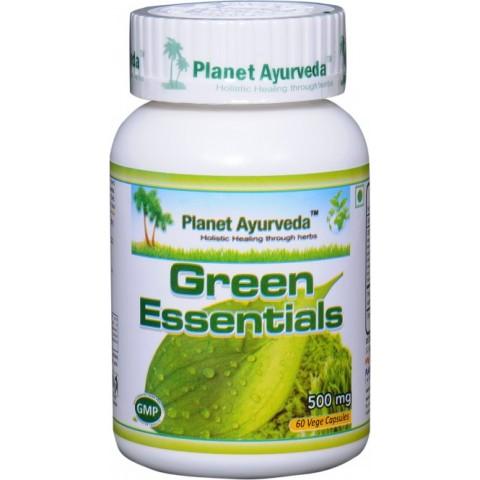 """Maisto papildas """"Green Essentials"""", Planet Ayurveda, 60 kapsulių"""