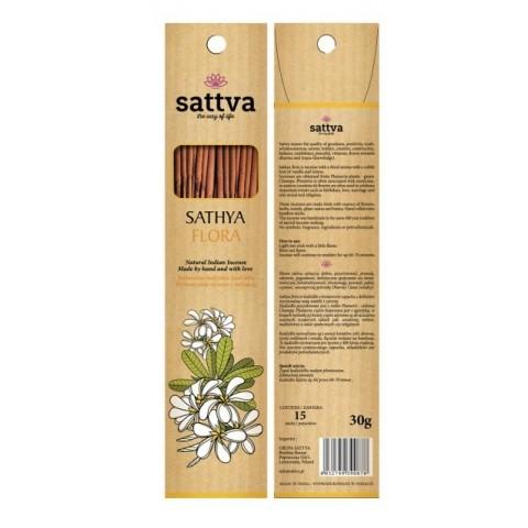 Gėlių kvapo smilkalų lazdelės SATYA FLORA, Sattva Ayurveda, 15 vnt.