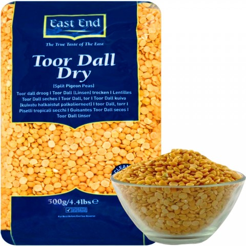 Toor Dall (dalas) lęšiai, East End, 500 g
