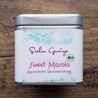 Švelnus prieskonių mišinys košei su vaisiais Sweet Masala, ekologiškas, Ayurveggie, 50g dėžutė