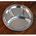 Didelė Thali lėkštė, padalinta į dalis, plieninė, 31,5 cm skersmens