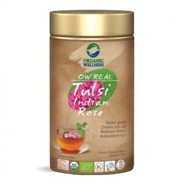 Lapų arbata Tulsi Indian Rose, biri, ekologiška, OW'REAL, 100g
