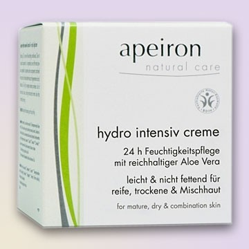 Intensyvus drėkinamasis veido kremas sausai odai Apeiron, 50 ml