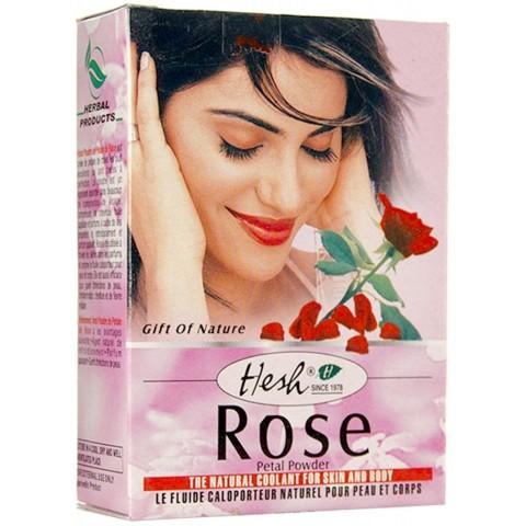 Augalinė veido kaukė su rožių žiedlapiais Rose, Hesh, 100g