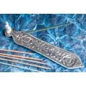 """Smilkalų lazdelių laikiklis """"Buda ir rožė"""", aliuminis, 21cm"""