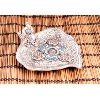 """Smilkalų lazdelių laikiklis """"Džiaugsmo dramblys ant širdies"""", aliuminis, 11cm"""