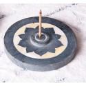 """Akmeninis smilkalų laikiklis """"Lotosas su perlamutru"""", 10cm"""