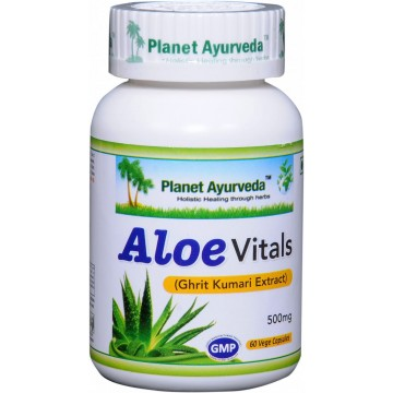 """Maisto papildas """"Aloe Vitals"""", Planet Ayurveda, 60 kapsulių"""