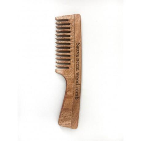 Viengubos medinės nimbamedžio šukos, 19 cm