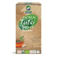 Indiškojo baziliko ir saldžiojo nimbamedžio lapų arbata Tulsi Sweet Neem, ekologiška, OW'REAL, 25 pakeliai