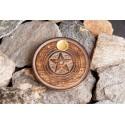 """Smilkalų lazdelių/kūgių laikiklis """"Pentagrama"""", medinis, 10cm"""