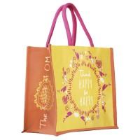 """Džiutinis maišelis """"Flower of Life"""" by Spirit of OM, violetinė"""