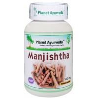 """Maisto papildas """"Manjistha"""" (šidžialapė raudė), ekologiškas, Planet Ayurveda, 60 kapsulių"""