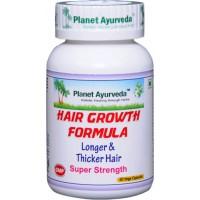"""Maisto papildas """"Hair Growth Formula"""", ekologiškas, Planet Ayurveda, 60 kapsulių"""