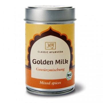 Ekologiškas prieskonių mišinys pienui Golden Milk, Classic Ayurveda, 50 g