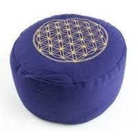 """Meditacinė pagalvėlė """"Flower of Life"""", apvali, violetinė"""