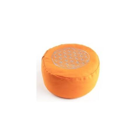 """Meditacinė pagalvėlė """"Flower of Life, apvali, oranžinė"""