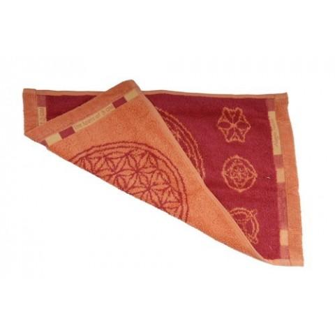 Ekologiškos medvilnės rankšluostis, raudono ažūro spalvos, Spirit of OM, 30x46cm