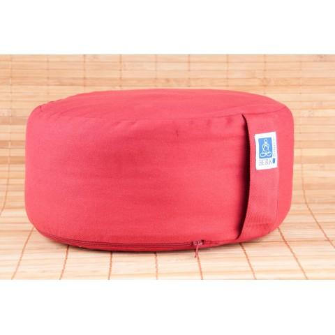 Meditacinė pagalvė, raudona, su kapoko užpildu