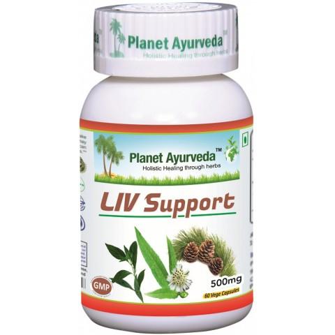 """Maisto papildas """"LIV Support"""", Planet Ayurveda, 60 kapsulių"""