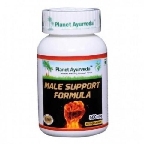 """Maisto papildas """"Male Support formula"""", Planet Ayurveda, 60 kapsulių"""