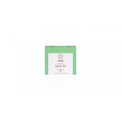 "Ajurvedinis muilas ""GREEN TEA"", Khadi naturprodukte, 100g"