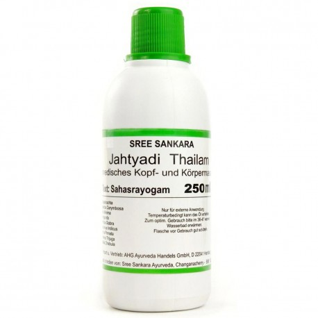 Ajurvedinis masažo aliejus Jathyadi Thailam, Sree Sankara, 250 ml