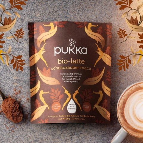 Cacao Maca Magic Pukka Organic Latte, 90 g
