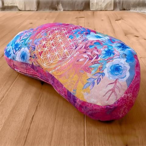Pusmėnulio formos meditacinė pagalvė, rausva