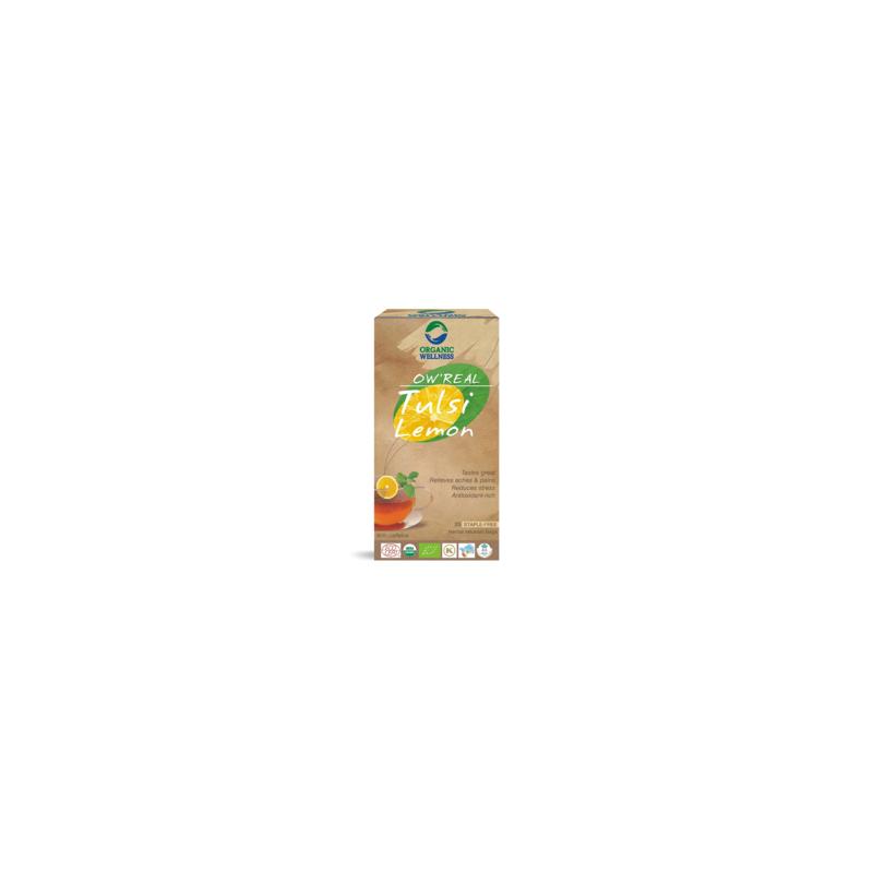 Arbata Tulsi Lemon,  OW'REAL, 25 pakeliai
