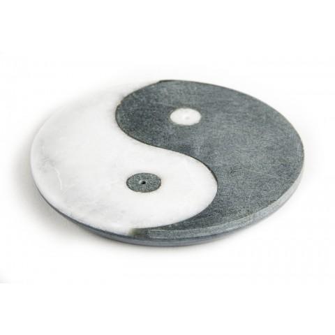"""Akmeninis smilkalų laikiklis """"Ying-Yang"""",  ⌀10cm"""