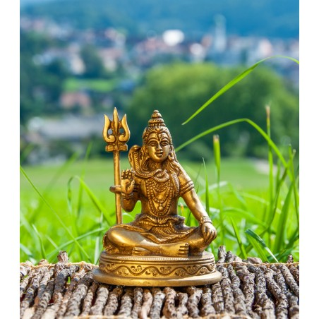 """Žalvarinė statulėlė """"Shiva"""", 10 cm"""