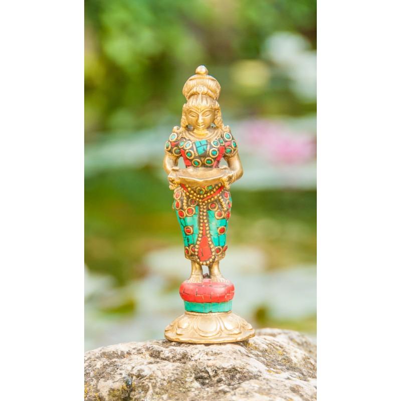 "Žalvarinė statulėlė ""Lakshmi"", 14 cm"