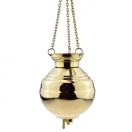 Shirodhara (Širodara) indas aliejui pilti Classic, žalvarinis, 2 ltr.